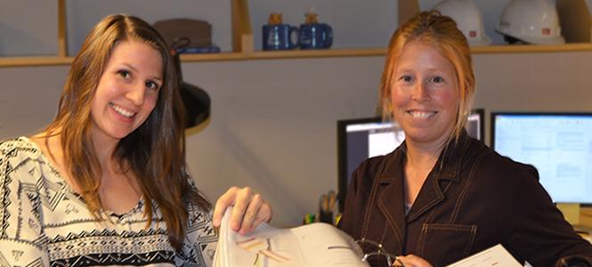 Interior designers Kristen Trottier and Liz Anderson