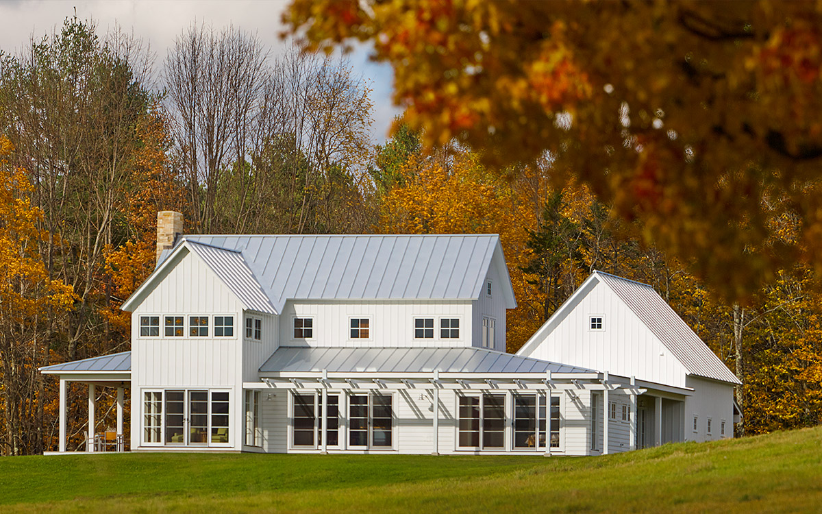 Contemporary farmhouse truexcullins architecture for Vermont farmhouse plans