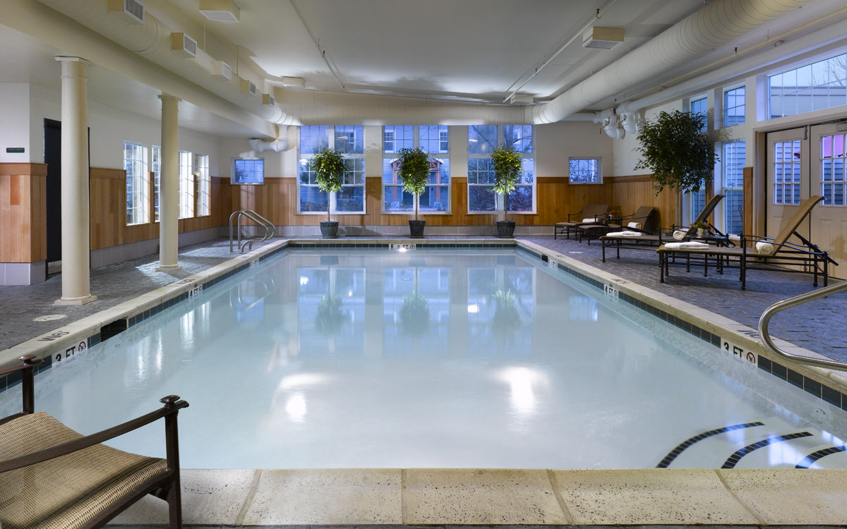 Pool and fitness areas