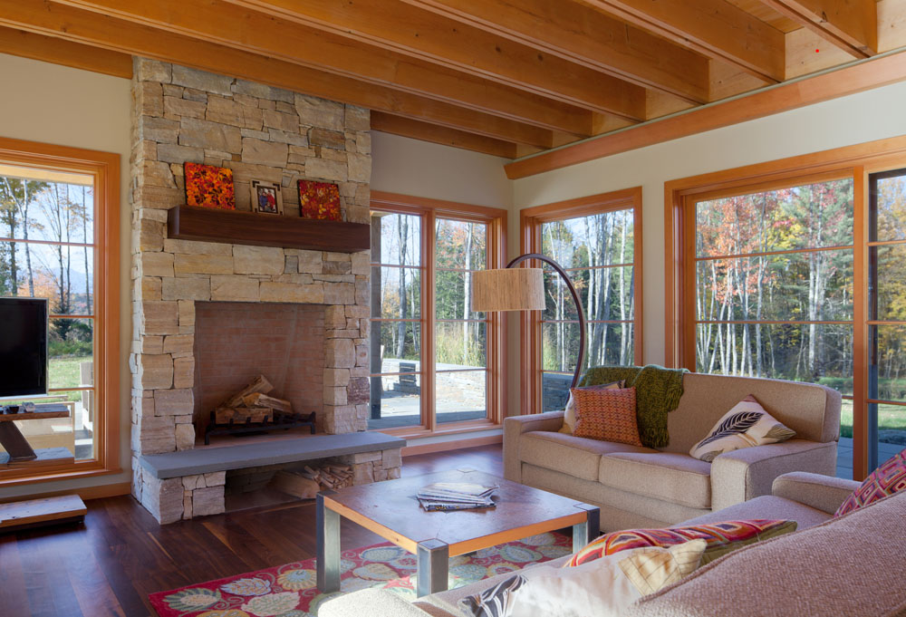Home is where the hearth is truexcullins architecture for How to build a double sided fireplace