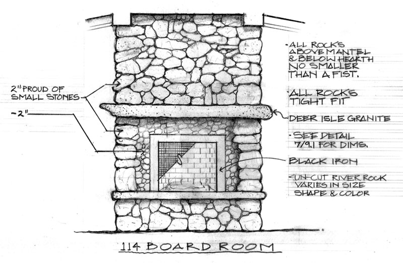 Working fireplaces truexcullins architecture interior design for Construction drawings and details for interiors